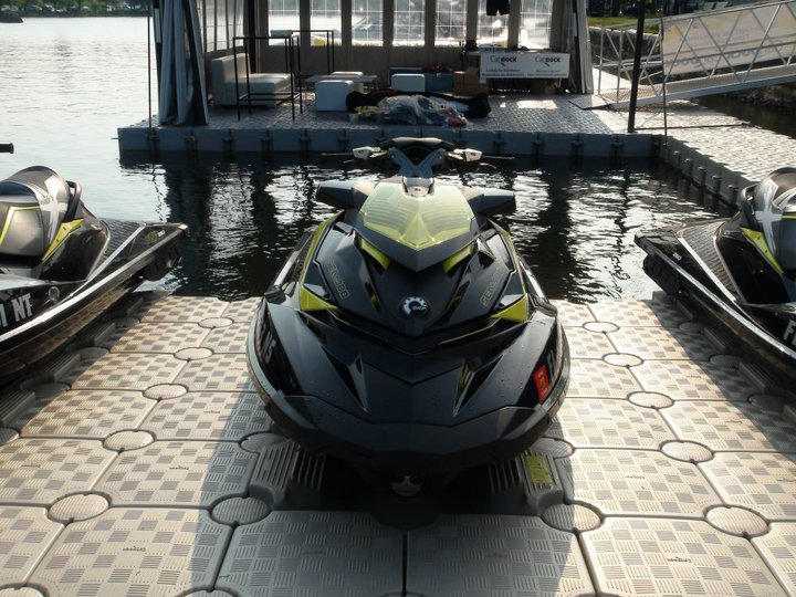 JetSlide - Drive On Floating Dock for Jet Skis, Boats, & PWC