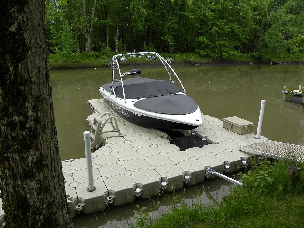 JetSlide - Drive On Floating Dock for Jet Skis, Boats, & PWC